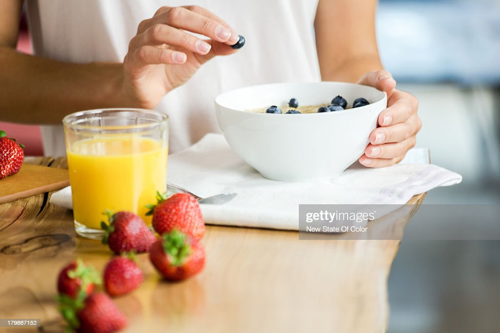 Healthy breakfast composition : Stock Photo