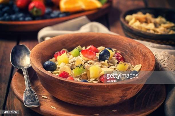 Healthy Breakfast Muesli with Fruits