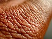 healthy brown skin close up