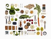 A healthy diet food grid