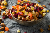 Healthy Dried Fruit and Nut Mix with Almonds Raisins Cranberries