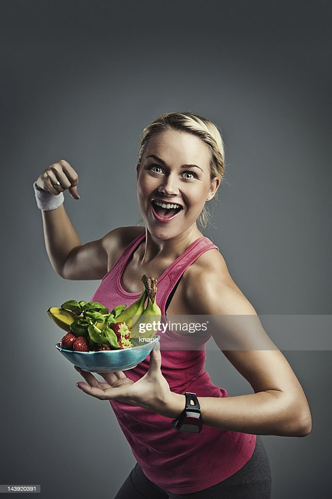 Healthy eating and exercise : Stock Photo