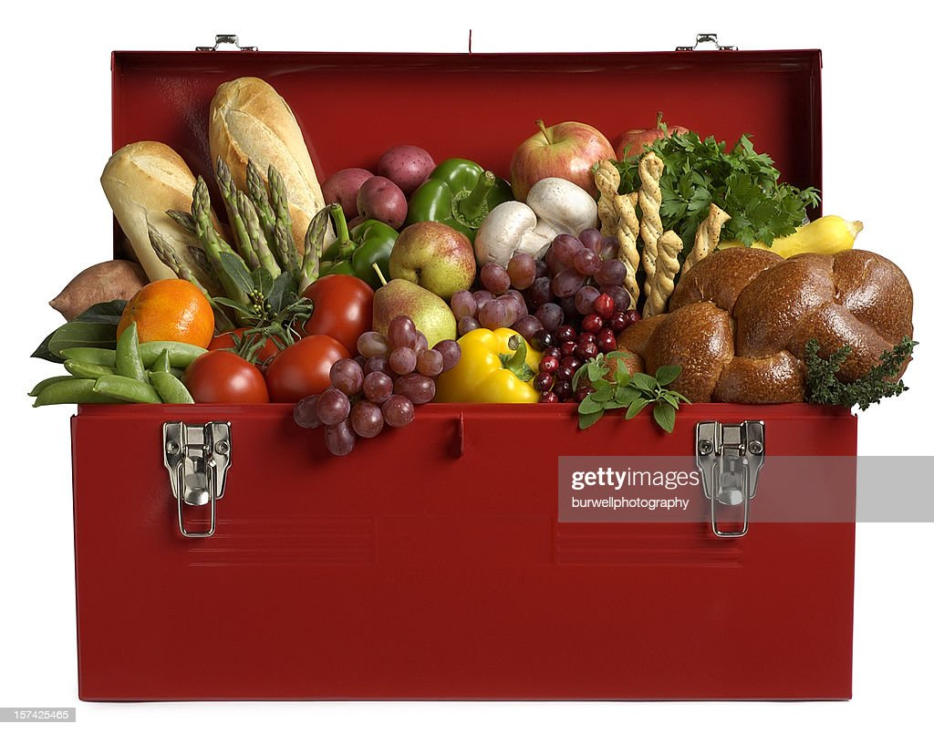 fruits and vegetables in cornucopia basket stock photo getty images