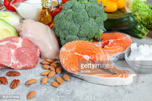 Healthy eating food low carb keto ketogenic diet meal plan : Stock Photo