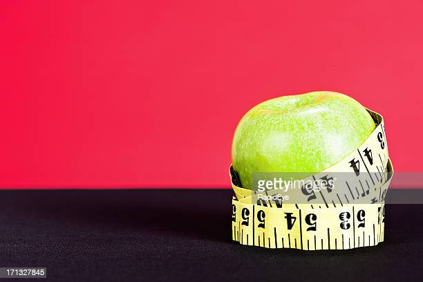 健康的な食事のではないことをアップル型のボディ