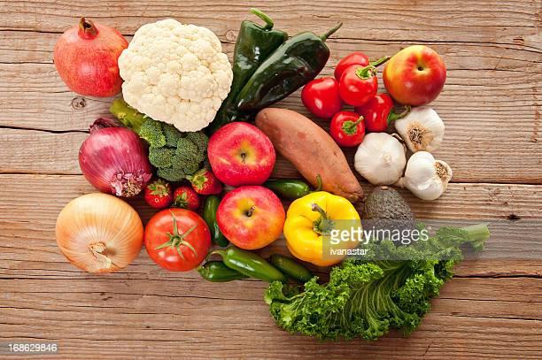 Gesundes Essen, Bio-Obst und Gemüse