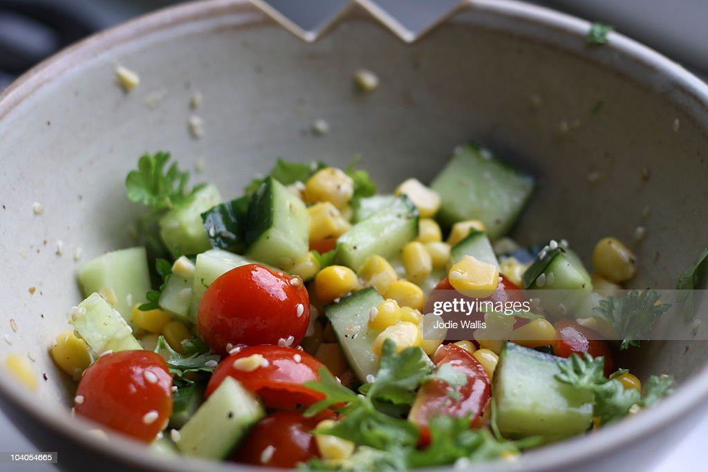 Healthy eating summer salad : Stock Photo