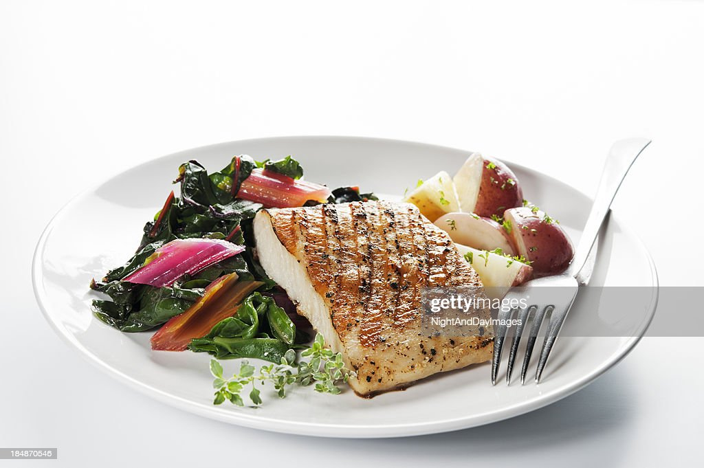 Healthy fish dinner stock photo getty images for Healthy fish dinner