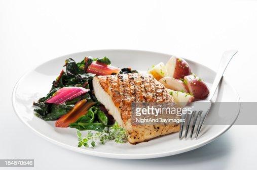 ヘルシーな魚のディナー