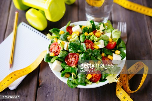 Gesunde fitness-Salat : Stock-Foto