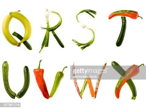 XXL Healthy Food Alphabet