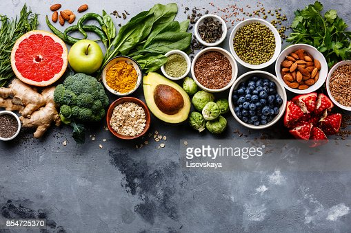 Healthy food clean eating selection : Stock Photo