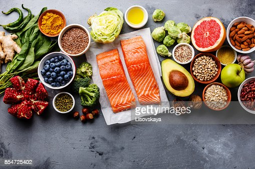 Healthy food clean eating selection : Foto stock