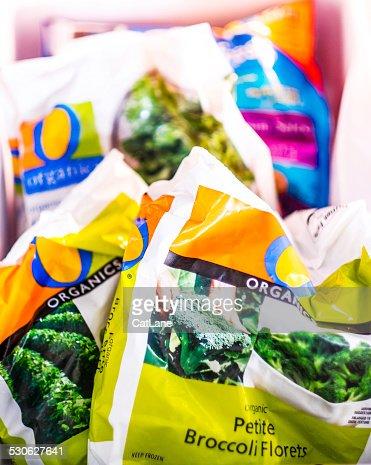 Healthy frozen organic green vegetables