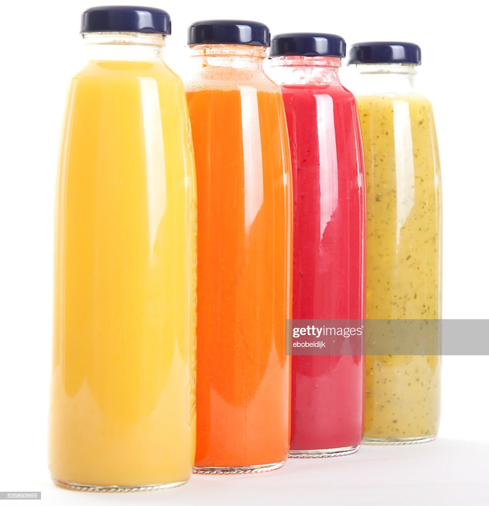 Healthy fruitbottles : Stockfoto