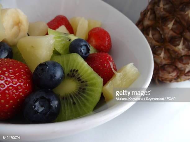 Healthy fruits breakfast