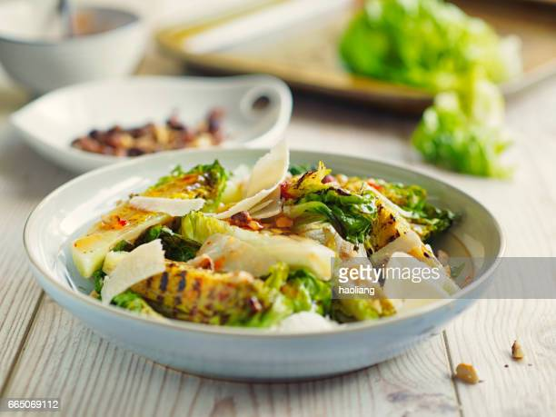 Healthy gem lettuces salad