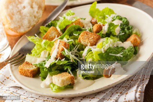 Healthy Green Organic Caesar Salad : Stock Photo