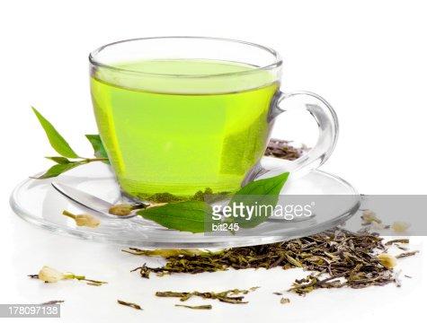 Saludable té verde : Foto de stock