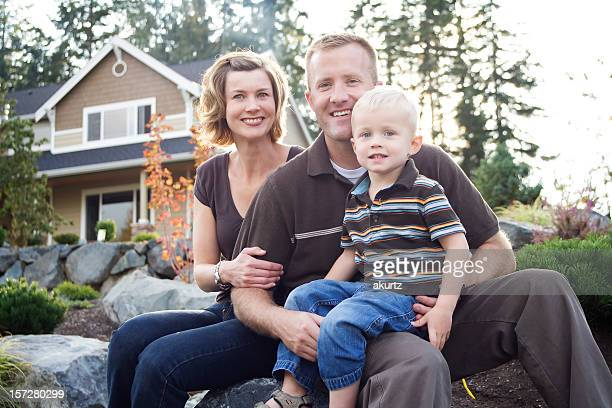 Healthy Happy Family of three
