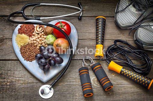Gesundes Leben-Konzept, Ernährung und Eignung : Stock-Foto