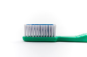 Healthy lifestyle - extreme closeup of toothbrush