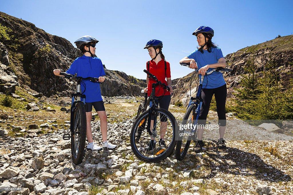 Healthy lifestyle - family biking : Stock Photo