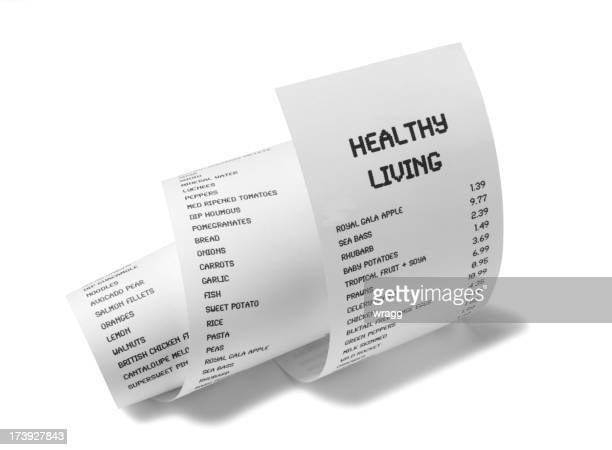 Healthy Living on White Paper