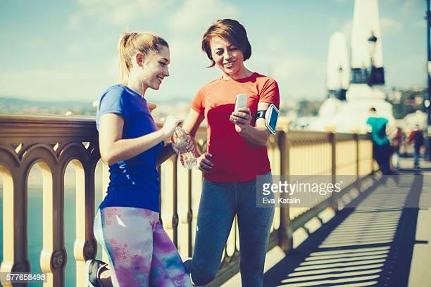 Sain faisant de l'exercice en plein air