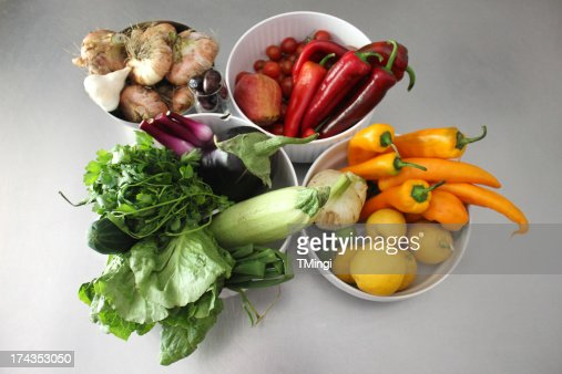 Healthy Rainbow of Fruits and Vegetables : Stock Photo