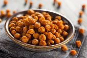 Healthy Roasted Seasoned Chick Peas with Varies Spices