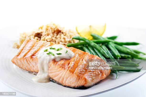 Salmone sano cena