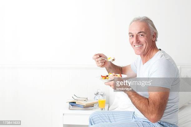 Gesunde senior Essen Frühstück.