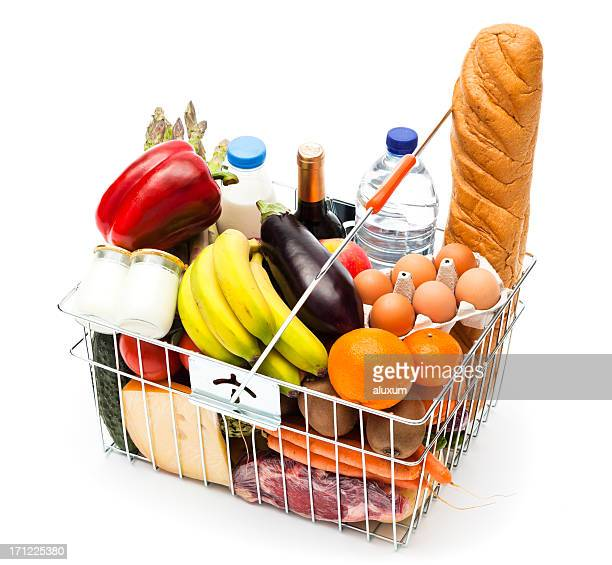 Healthy shopping basket