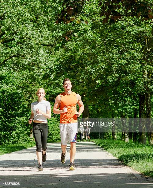 Healthy sporty couple
