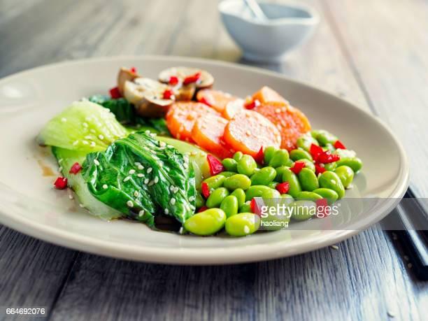 Gesundes gedünstetes Gemüse