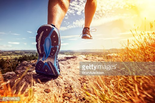 Healthy trail running : Stock Photo