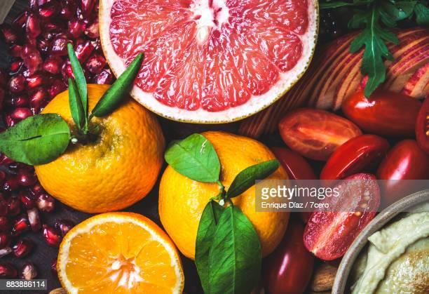 Healthy Vegan Snack Board Mandarines Close Up