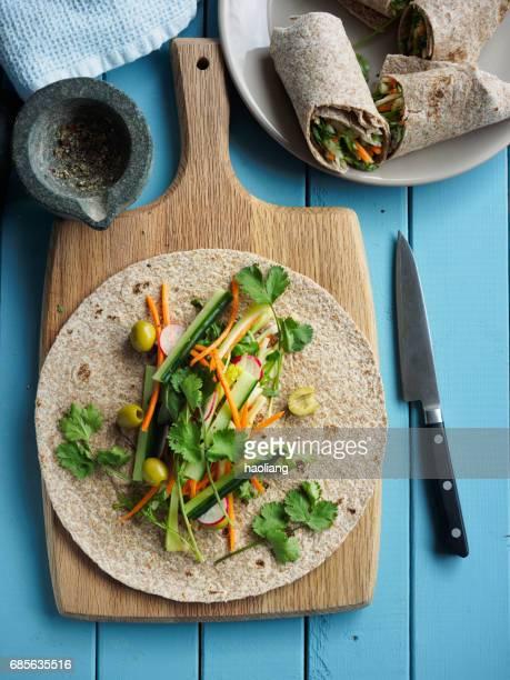 Gezonde veggie-wraps