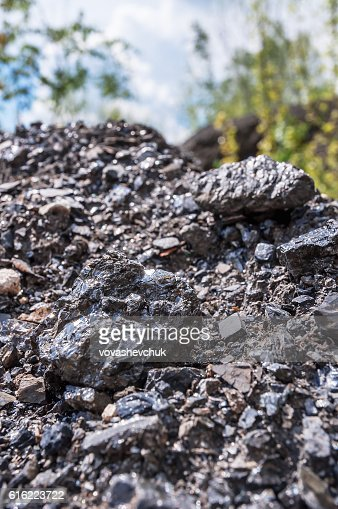 heap of black coal : Stock Photo