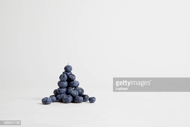 A heap of blueberries, studio shot