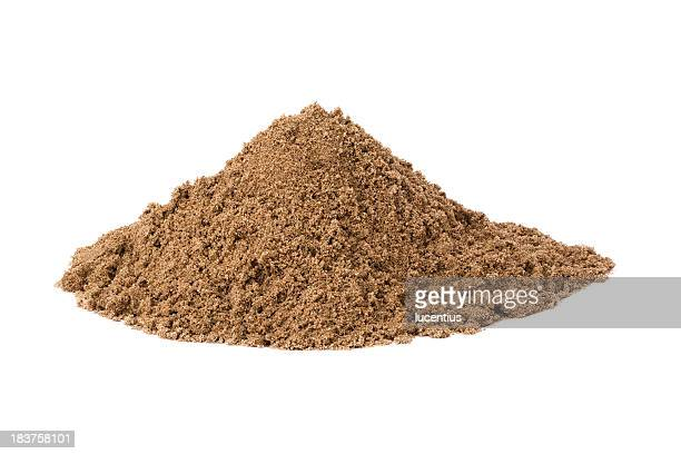 Heap of building sand isolated on white
