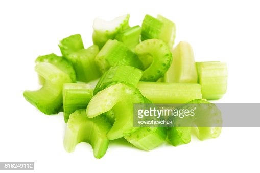 heap of chopped celery : Foto de stock