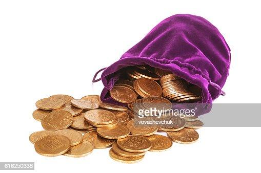 Mucchio di monete : Foto stock