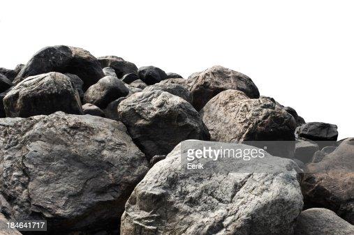 Heap of dark stones : Stock Photo