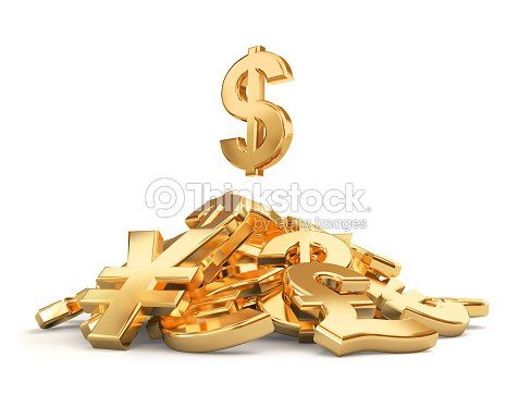 Heap Of Different Currencies Symbols Stock Photo Thinkstock