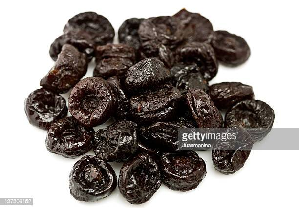 Heap of dried California prunes