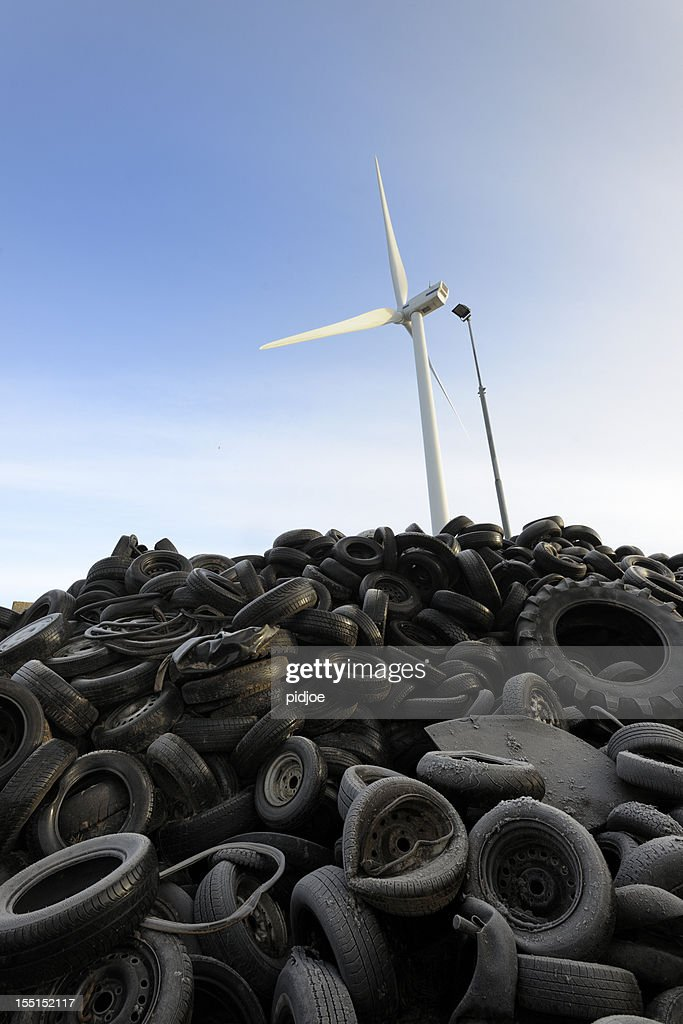 heap of dumped tires : Stock Photo