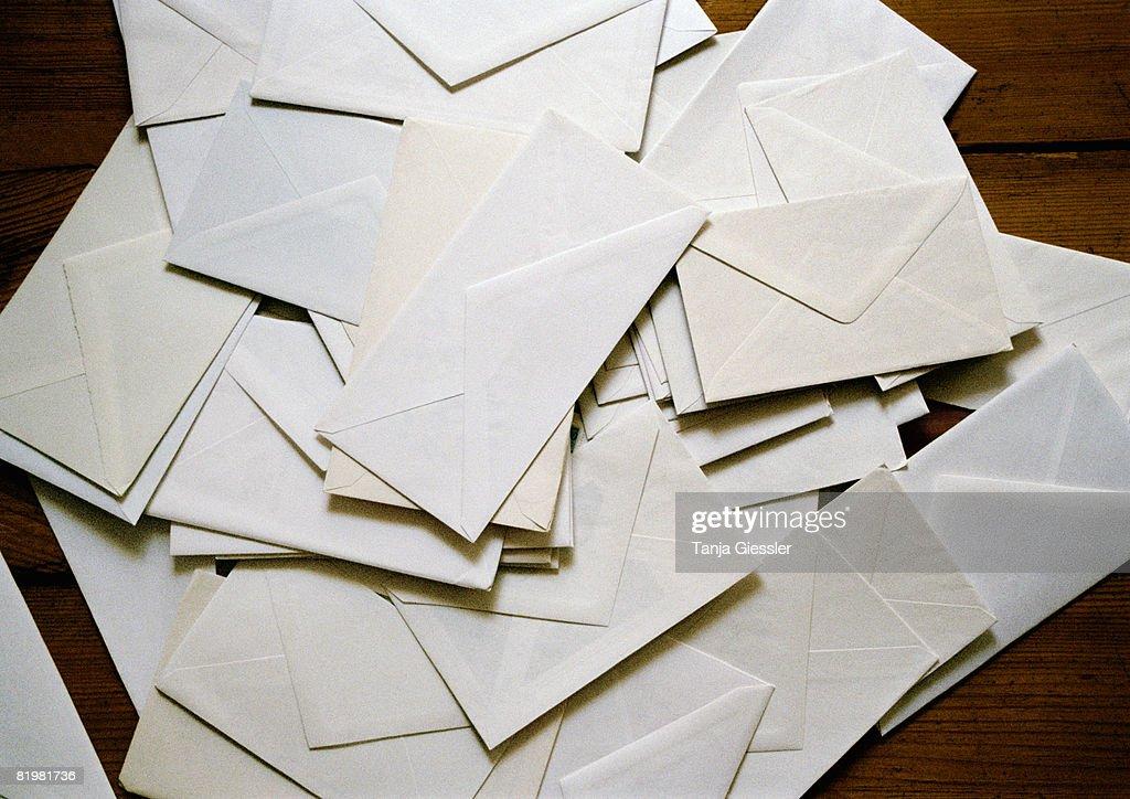 A heap of envelopes