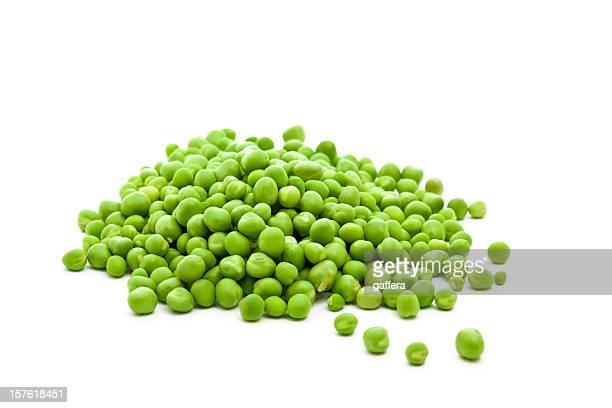 Haufen von frischem grünen Erbsen